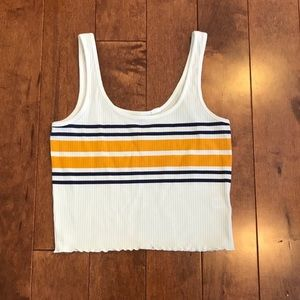 like new pacsun cropped tank top
